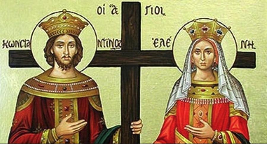 Cruce roșie în calendar. Sunt Sfinții Constantin și Elena. Rostește astăzi rugăciunea către Sfinții Constantin și Elena. Este foarte puternică