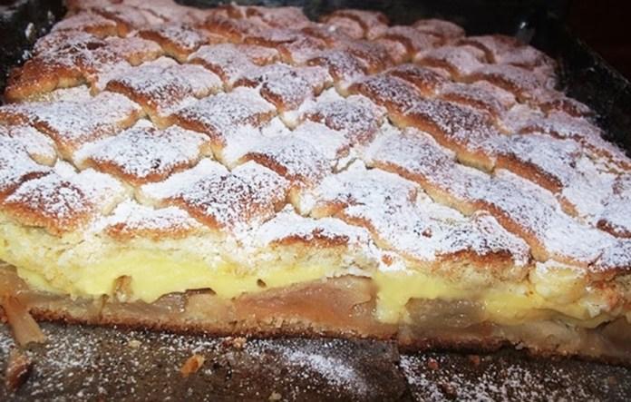Prăjitura cu măr și budincă de vanilie, o bunătate cum rar întâlnești
