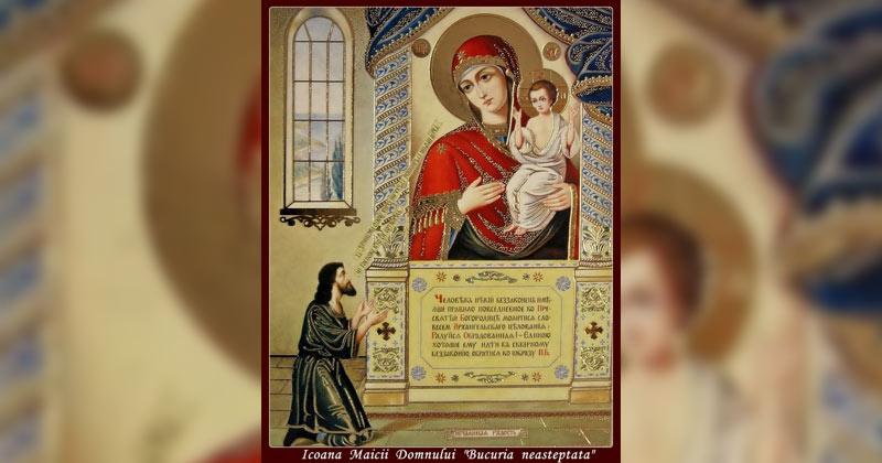 """Rugăciune deosebit de puternică la icoana Maicii Domnului """"Bucuria Neașteptată""""! Celor rătăciți le arată calea cea bună, pe cei bătrâni îi sprijină, iar pe prunci îi păzește"""