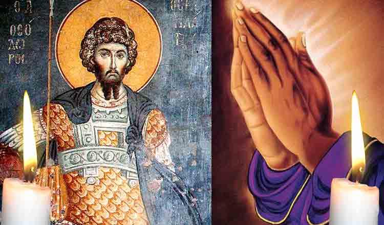 Citește azi, 8 februarie, Rugăciunea către Sfântul Teodor Stratilat pentru ajutor imediat!